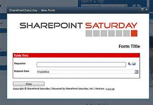 Infopath Form Templates by Sharepoint Infopath 2010 Form Library Modal Popup