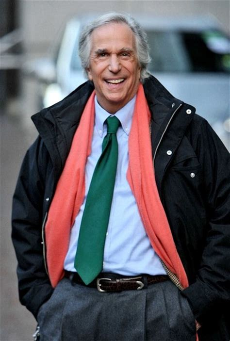 the fonz hairstyle fonzie hair style henry winkler out for a walk zimbio