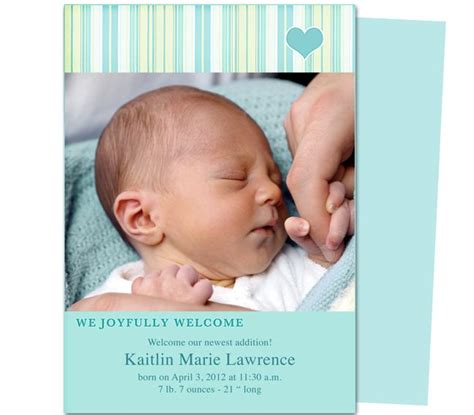 the 12 best images about baby birth announcement templates
