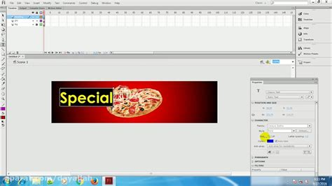tutorial web banner flash adobe flash animation banner tutorials