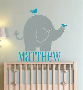 Elephant Wall Decal For Nursery Custom Wall Decals Elephant Nursery Decal Wall Decals By Amanda S Designer Decals Unmatched