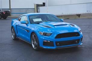 Ford Grabber Blue Roush Shows Pair Of Grabber Blue Mustangs
