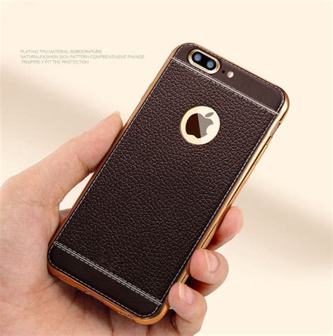 Leather Grid Luxury Litchi Tpu Iphone 6s Plus Soft Cover Casing for iphone 7 6s plus luxury slim ultra thin pu leather soft phone cover tpu protect my phones