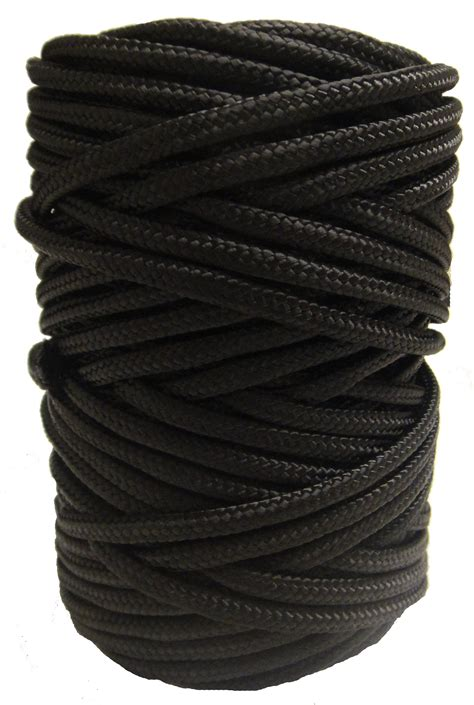 6mm Cord - timko ltd 6mm black braided pull cord x 90m