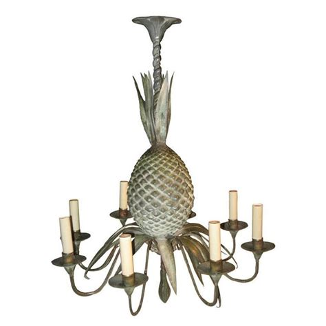 Mid Century Tin Pineapple Six Arm Chandelier For Sale At Tin Chandeliers