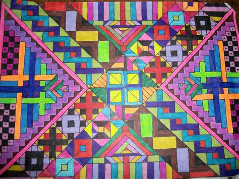 design pattern projects tribal patterns graph paper art 4 by lyla amnethyst on