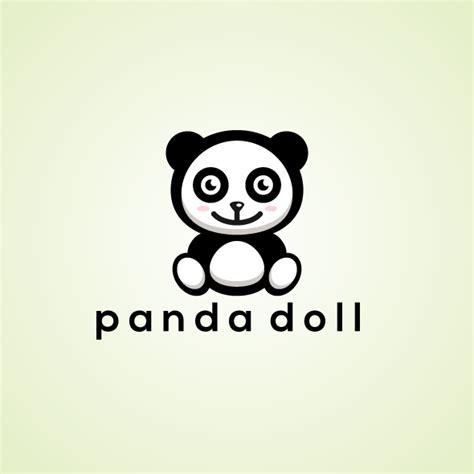 doll logo design cute panda doll logo bevouliin