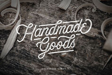Handmade Typeface - anchorage script fonts