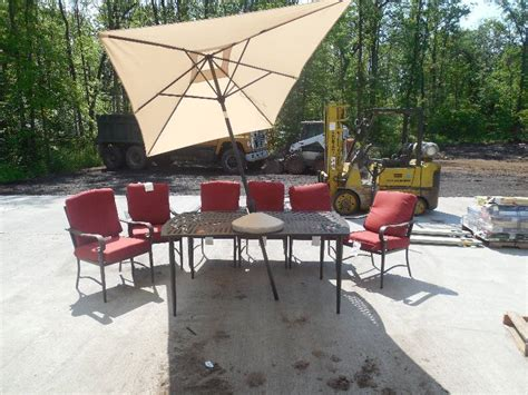 hton bay oak cliff 4 piece metal outdoor deep seating patio furniture home improvemnets tools and more