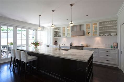 Galley Kitchen Island by Galley Kitchen With Large Island Bench Kitchen Ideas