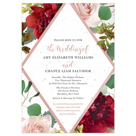 wedding invitation catalogs free beautiful blooms plantable wedding invitation plantable wedding invitations catalog