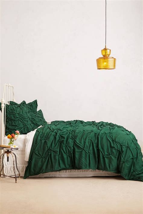 1000 Ideas About Green Bedding On Pinterest Interiors