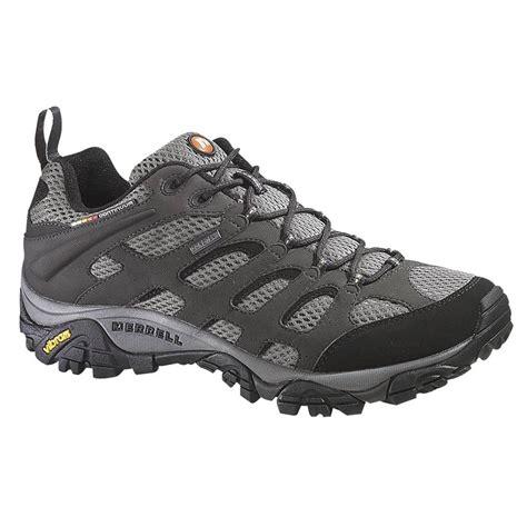 merrell mens walking shoes merrell mens moab beluga tex walking shoes j87577