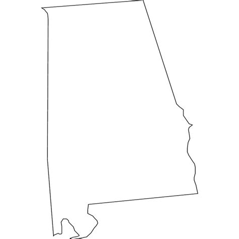 alabama map outline vector map of at vectorportal