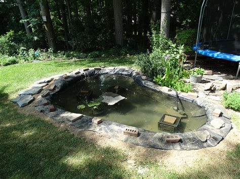 backyard pond liners how to create a backyard pond step by step the soulful