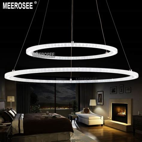 Lighting Fixture Store Aliexpress Buy Modern Two Rings Led Pendant Light Arcylic Led Ring Suspension Light