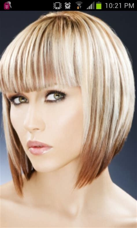 two toned bangs hairstyles for african american two tone bob hairstyle the new bob girlie ness