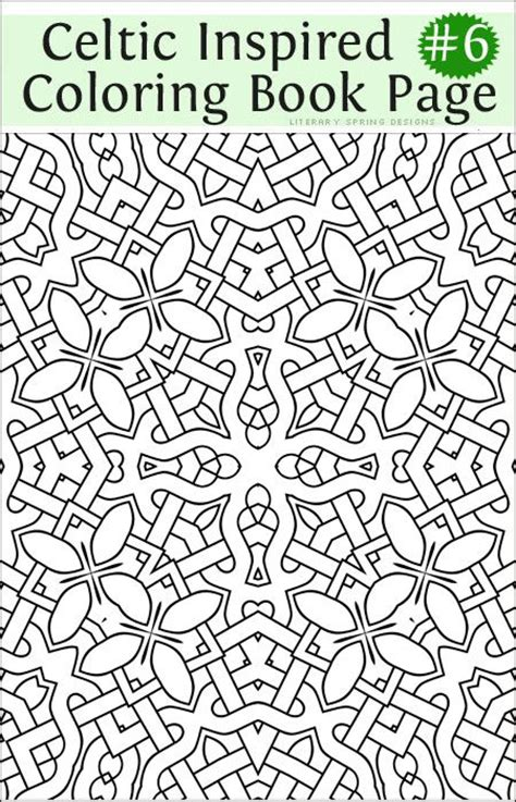 nature inspired coloring pages 93 best celtic coloring pages for adults images on