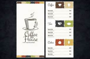 coffee price list template 30 food drink menu templates design shack