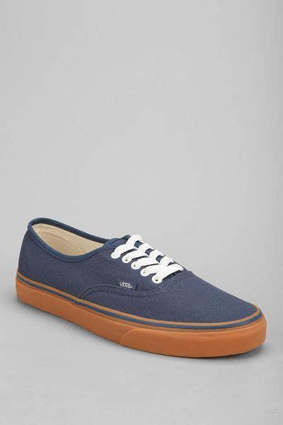 Vabs Authentic Navy Sole Gum vans authentic gum sole s sneaker in blue for