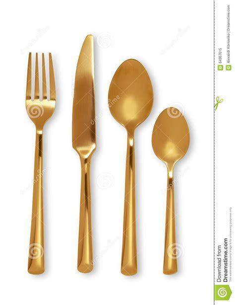 Gold Cutlery Set Stock Photo   Image: 64367615