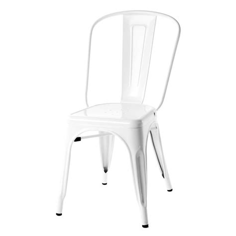 white cafe chairs tolix style metal industrial loft designer white cafe chair