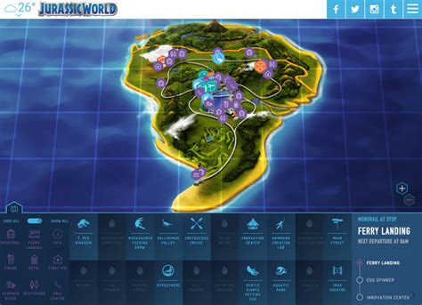 jurassic park map plan a vacation to jurassic world at isla nublar