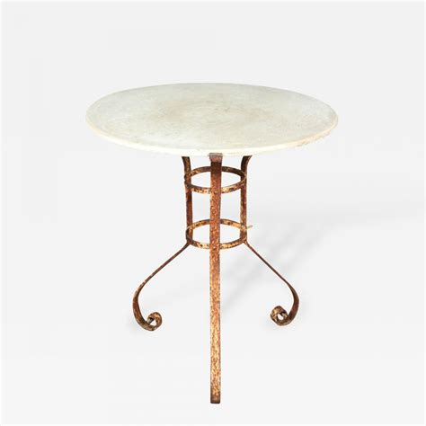 iron and marble table an iron and marble top table