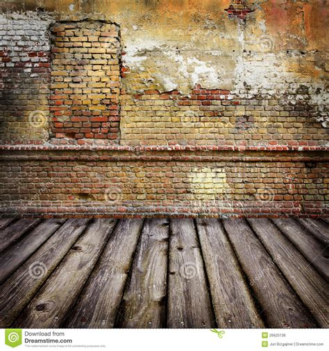 Shop Apartment Floor Plans studio background with brick wal royalty free stock image