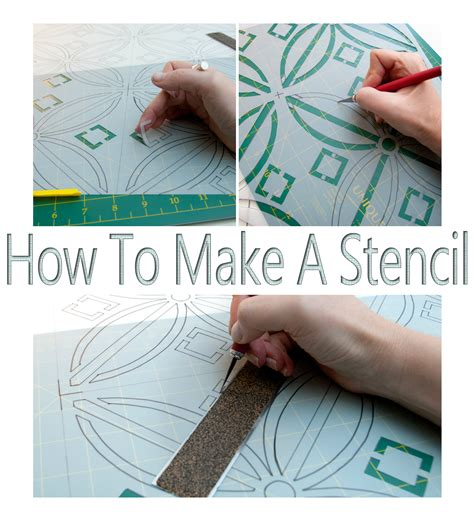 How To Make Stencil Paper For - how to make a stencil no costly gadgets required