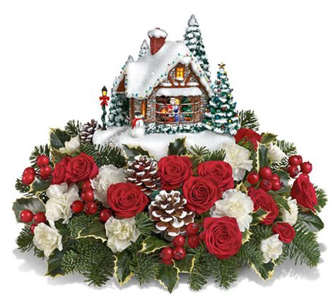thomas kinkade a kiss for santa christmas centerpiece