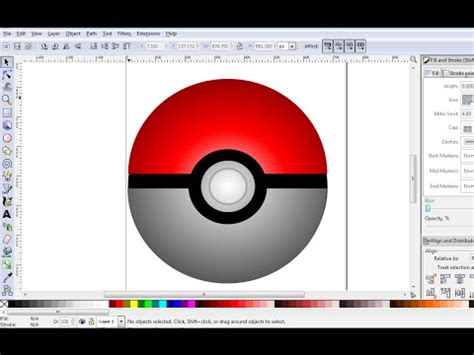 tutorial inkscape 3d inkscape drawing tutorial how to make 3d pokeball in