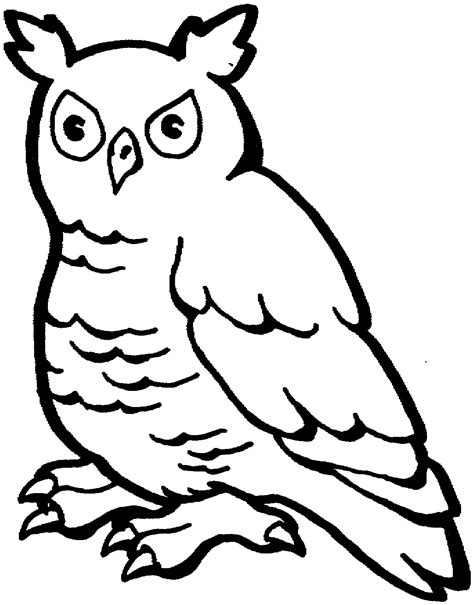 owl head coloring page free owl coloring pages