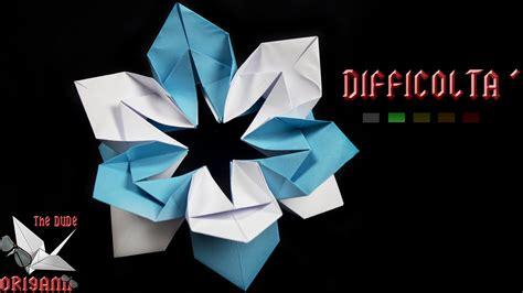 origami tutorial ita origami ita fiore fiocco di neve origami di natale
