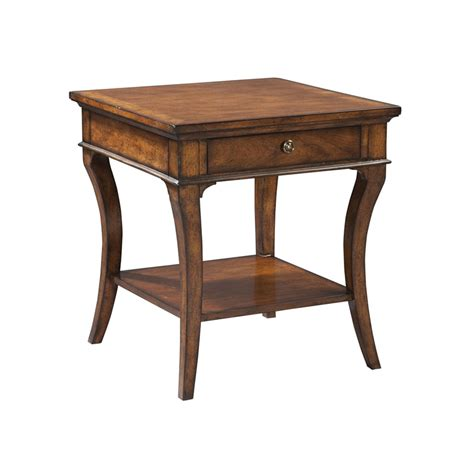 Table Ls For Living Rooms Hekman 1 1104 European Legacy Square End Table Discount Furniture At Hickory Park Furniture