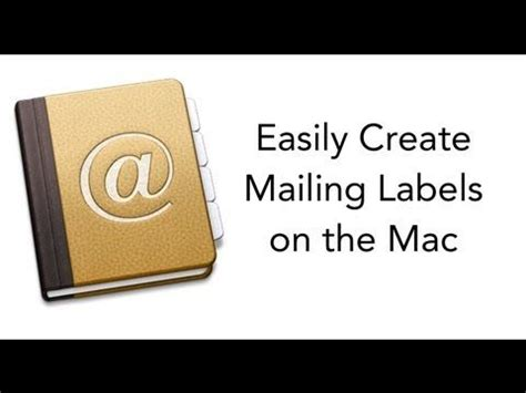 Design Labels On Mac | create mailing labels with the mac how to pinterest