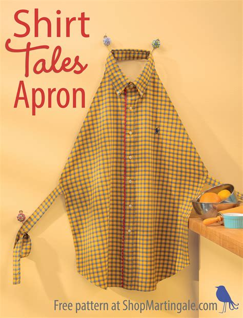 apron pattern made from man s shirt celebrate national craft month by losing a shirt and