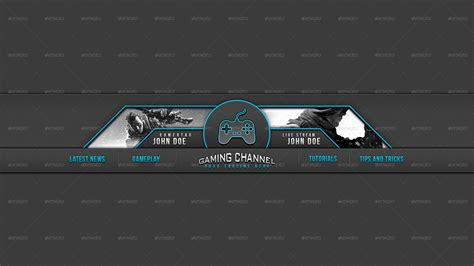 30 Premium Free Psd Youtube Channel Banners For The Best Creative Promoters Free Psd Templates Gaming Banner Template Psd