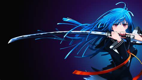 wallpaper anime girl 4k wallpaper kisara tendou anime girl katana 4k anime 4641