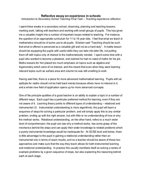 Exle Of An Reflective Essay by 10 Reflective Essay Exles Sles