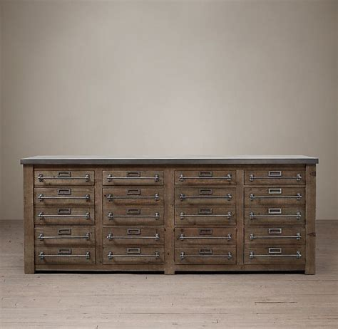 restoration hardware liquor cabinet early 20th c zinc top mercantile sideboard from