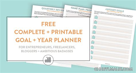 free printable goal planner 2018 2017 goal planning free printable year and goal planning