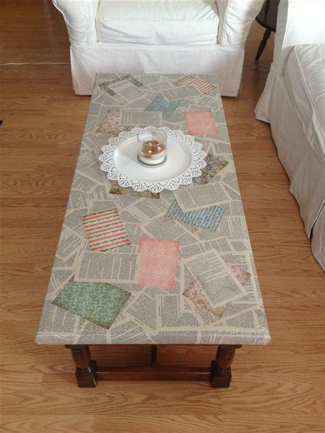 Decoupage Furniture With Scrapbook Paper - 25 best ideas about decoupage coffee table on
