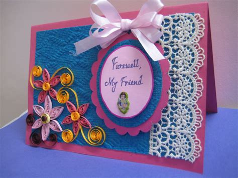 Handmade Farewell Cards For Seniors - handmade card designs