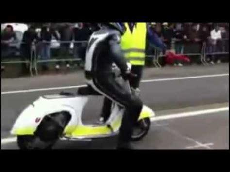 Modifikasi Vespa Strada by Vespa Drag Knalpot 2 Tak Racing Motor Vespa Modifikasi