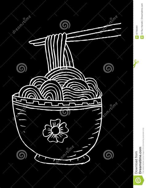 doodle noodle doodle noodle at bowl vector cartoondealer