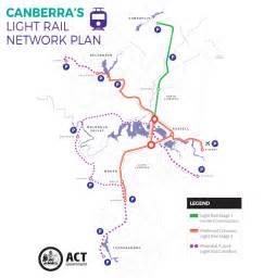 Light Link Rail Map Keep Canberra Moving Transport Canberra