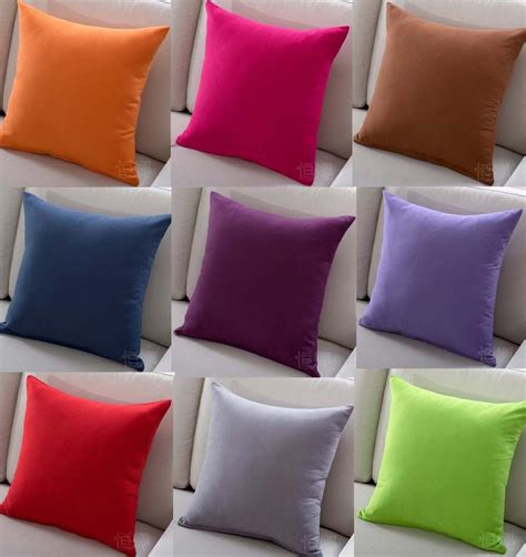 pillows for the couch solid color sofa cushion covers hot sale red pink purple