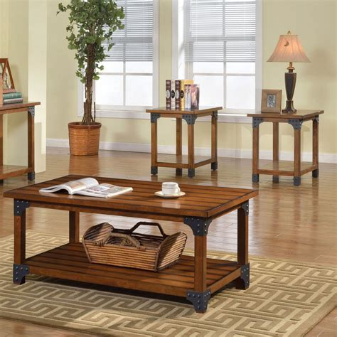 Furniture Bozeman by Furniture Of America Bozeman Cocktail And End Table 3 Pc