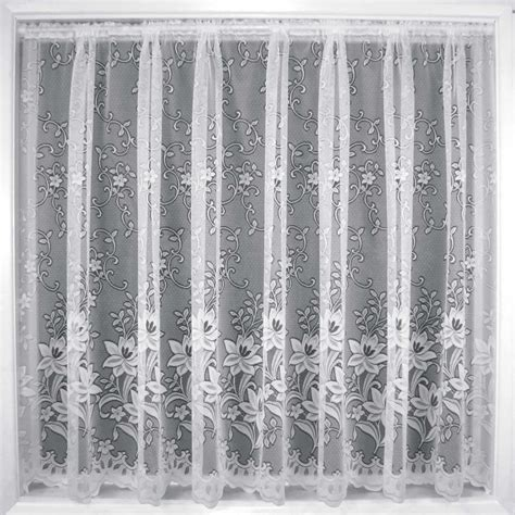 White Lace Curtains Net Curtains White Lace Curtain Nets Sold By The Metre Ebay